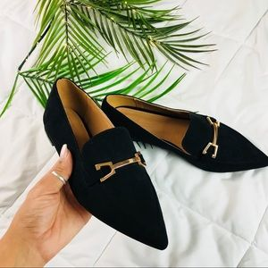 ASOS Pointed Toe Buckle Loafers
